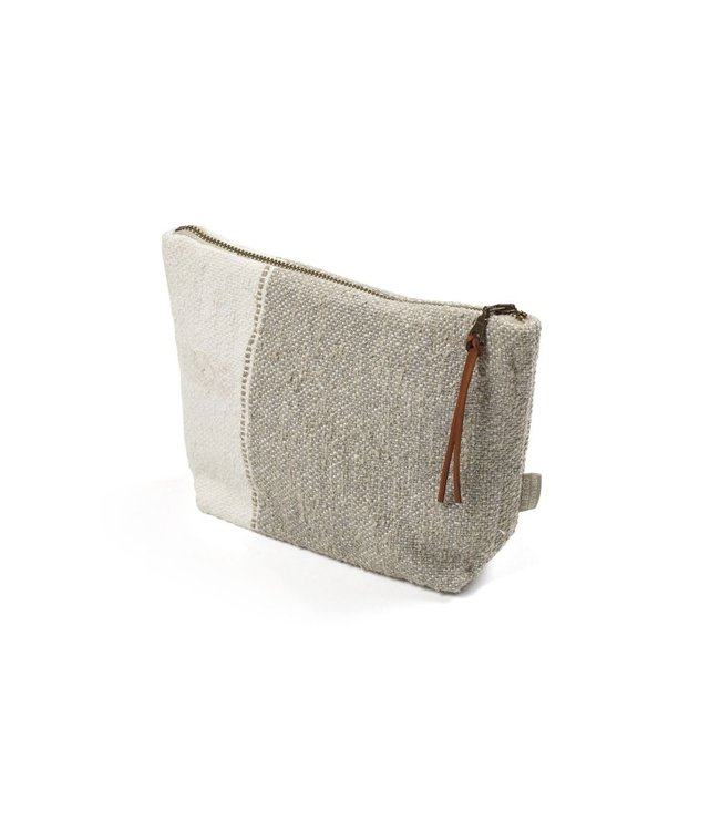 Libeco Charlotte pouch - oyster stripe