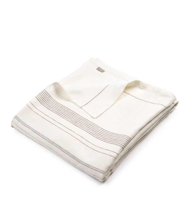 Libeco Propriano coverlet - multi stripe