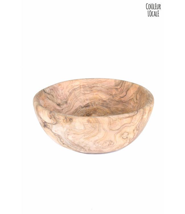 Salad bowl round - olive wood