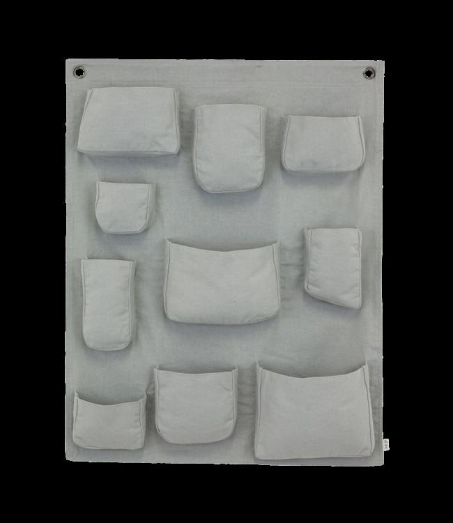 Wall pocket - silver grey