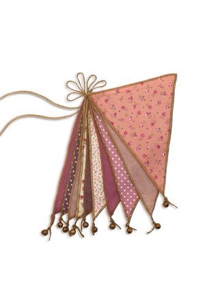Numero 74 Bunting garland - mix pink