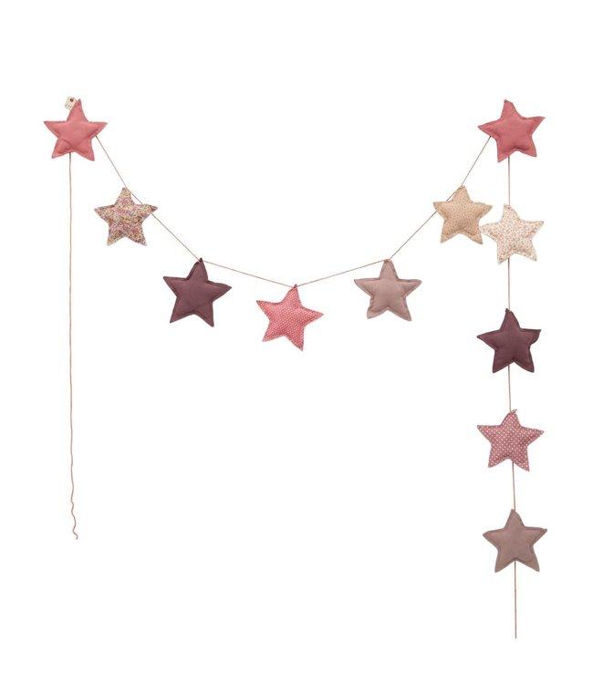 Mini star garland - mix pink