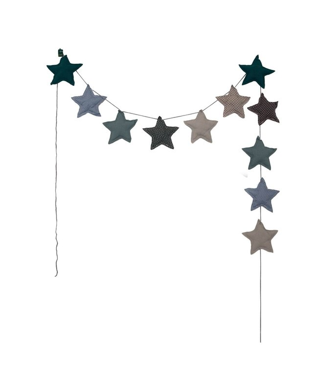 Mini star garland - mix blue