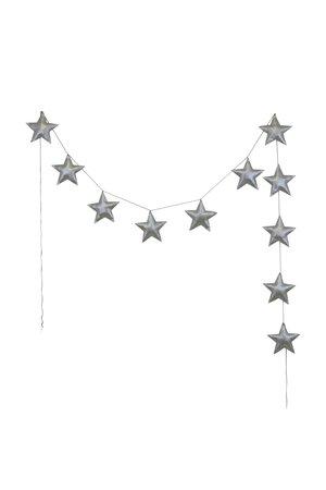 Numero 74 Mini star garland - silver