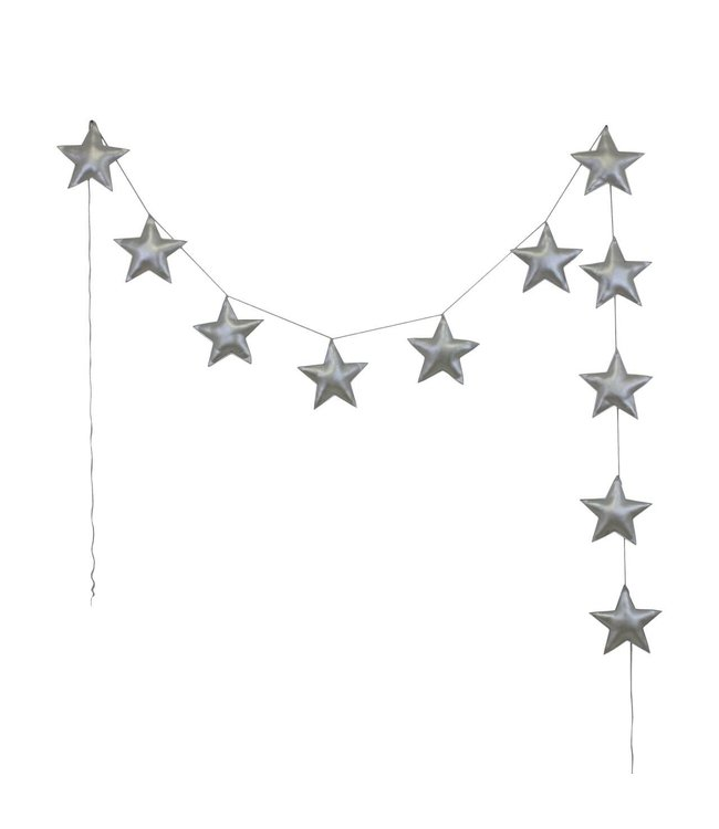 Numero 74 Mini star garland - silver