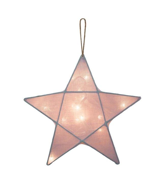Ster lantaarn medium- dusty pink
