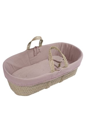 Numero 74 Moses basket - bed linen - dusty pink