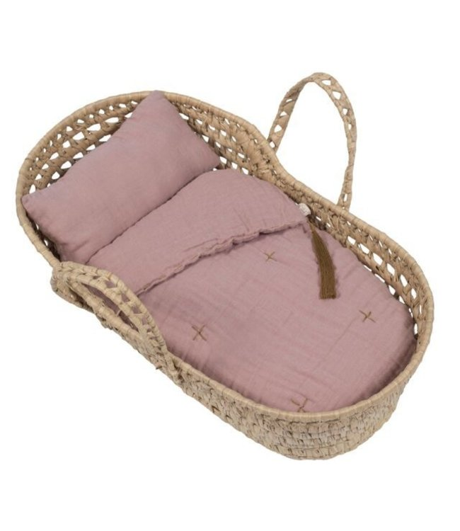 Numero 74 Bed linen for doll basket - dusty pink