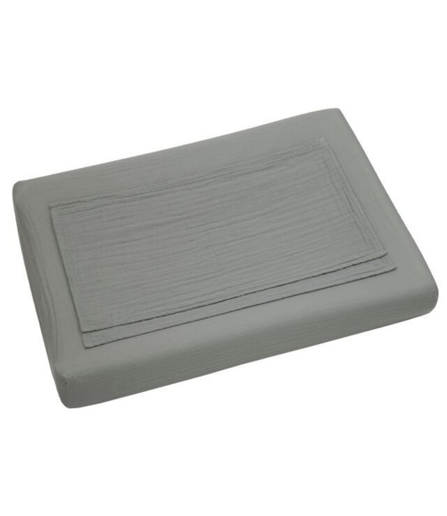Changing pad fitted cover - silver grey