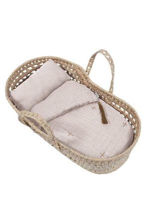 Numero 74 Doll basket - bed linen - powder