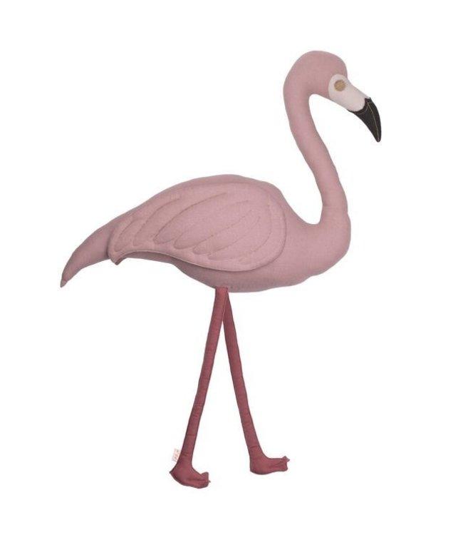 Polly flamingo kussen