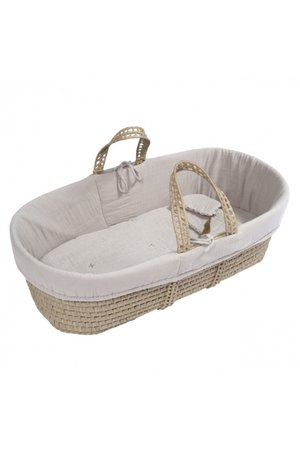 Numero 74 Bed linen for moses basket - powder