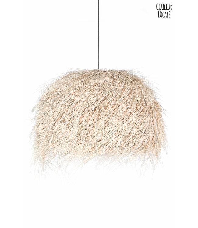 Suspension demi-boule palm - natural