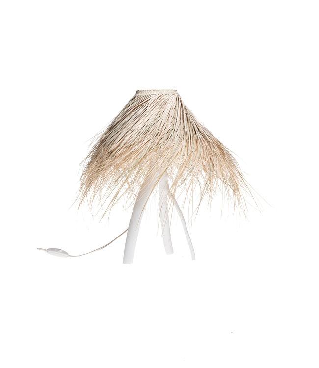 Palm tafellamp 'tak' - wit