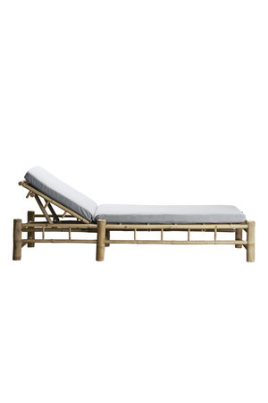 Tine K Home Bamboo sunbed with grey mattress