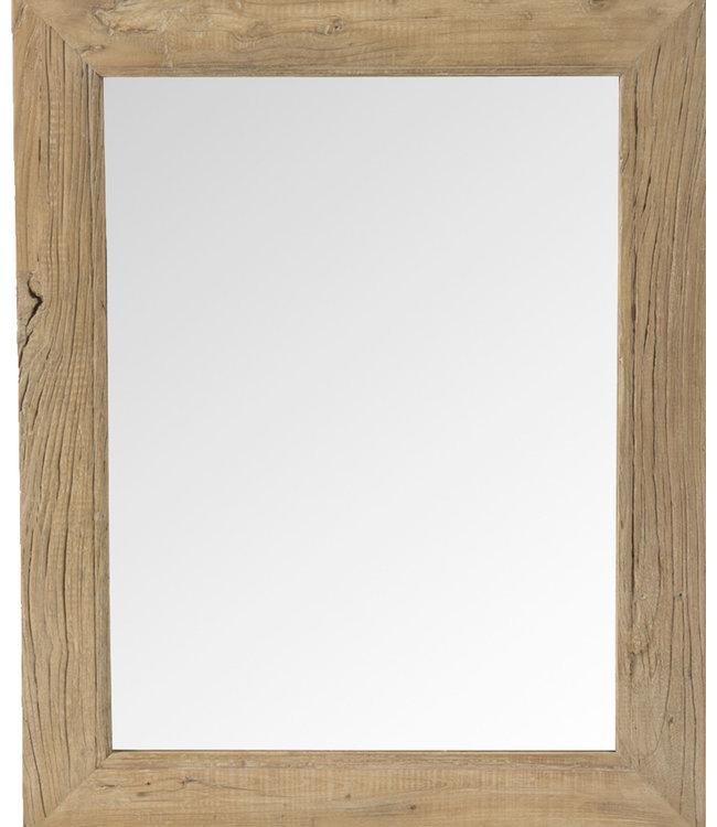 Mirror elm wood - 70x70cm