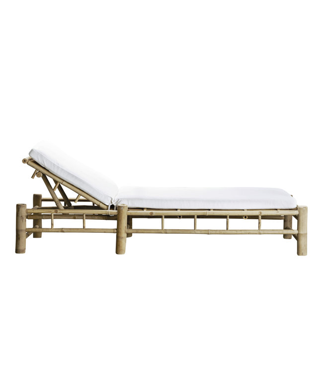 Tine K Home Bamboo sunbed with white mattress