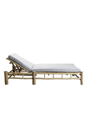 Tine K Home Bamboo double sunbed with grey mattress