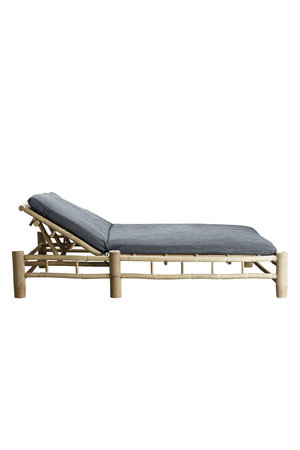 Tine K Home Bamboe dubbel ligbed met donkergrijze matras