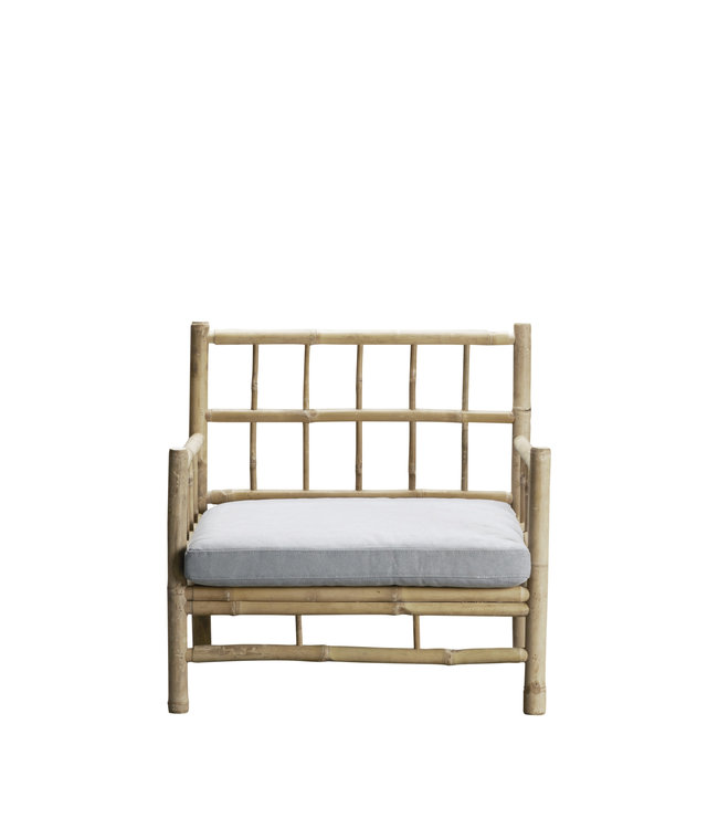 Tine K Home Bamboo lounge chair with grey mattress