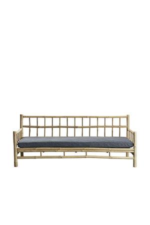 Tine K Home Bamboe lounge zetel met donkergrijze matras