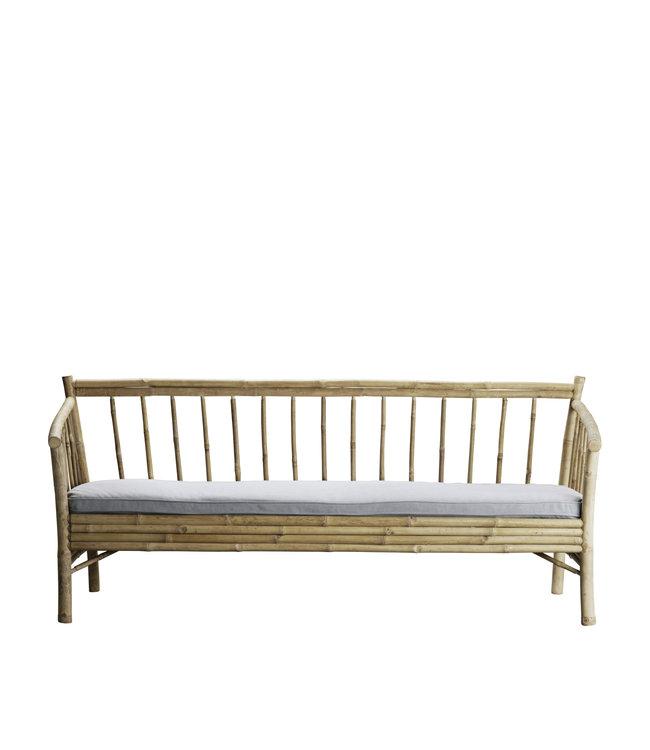 Bamboe new lounge zetel met grijze matras
