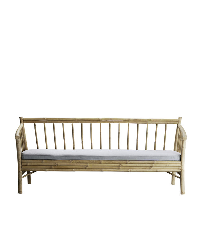 Tine K Home Lounge sofa in bamboo with grey mattress
