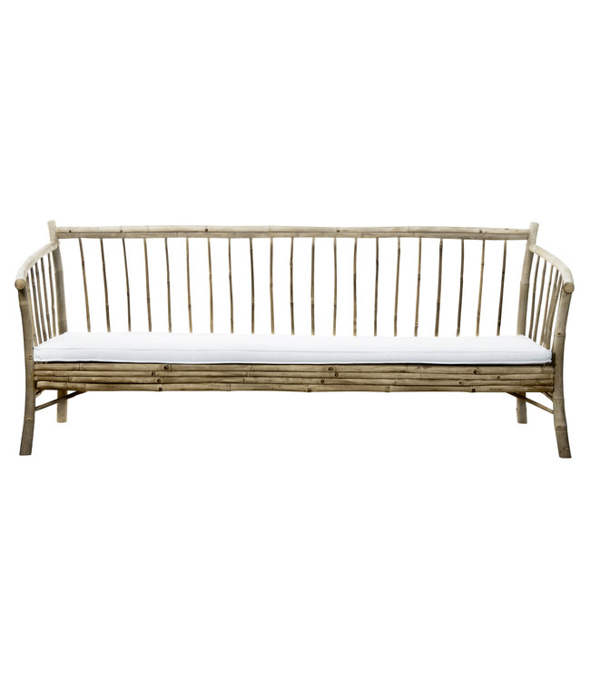 Bamboe new lounge zetel met witte matras