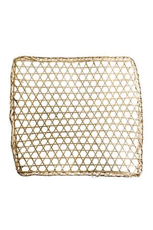 Tine K Home Bamboe muur deco, vierkant, geweven - naturel