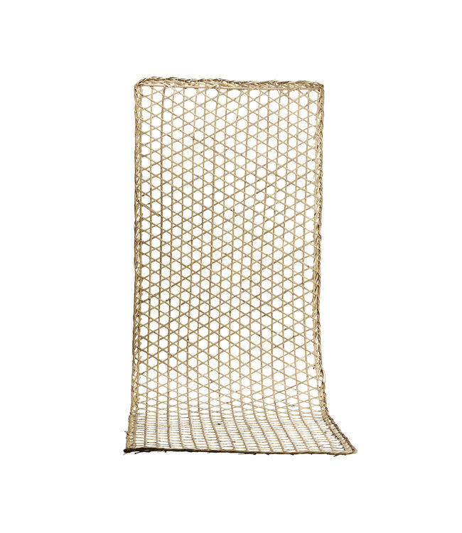 Bamboe muur deco, geweven - naturel