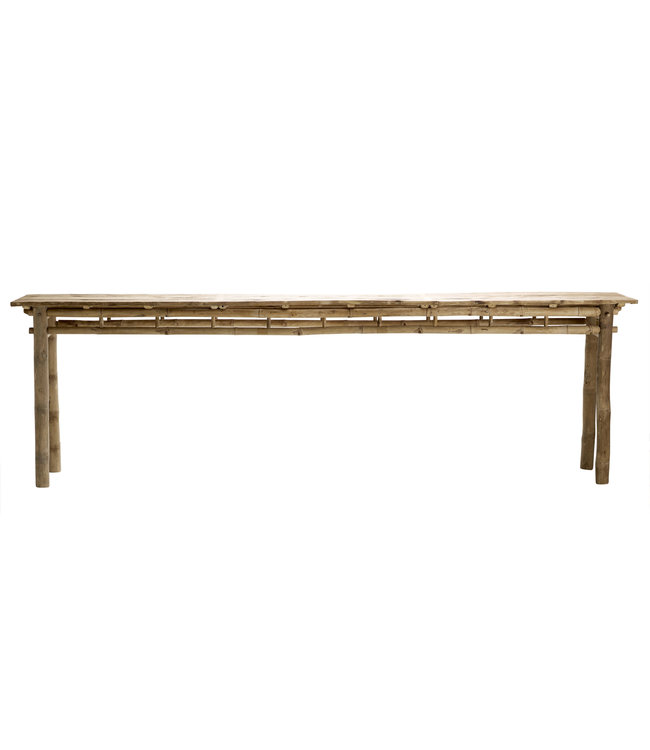 Bamboo console table 280cm