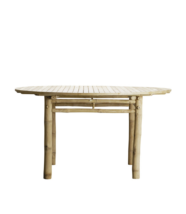 Bamboo dining table round