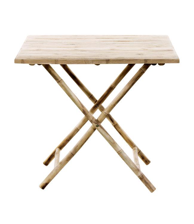 Bamboe plooitafel vierkant