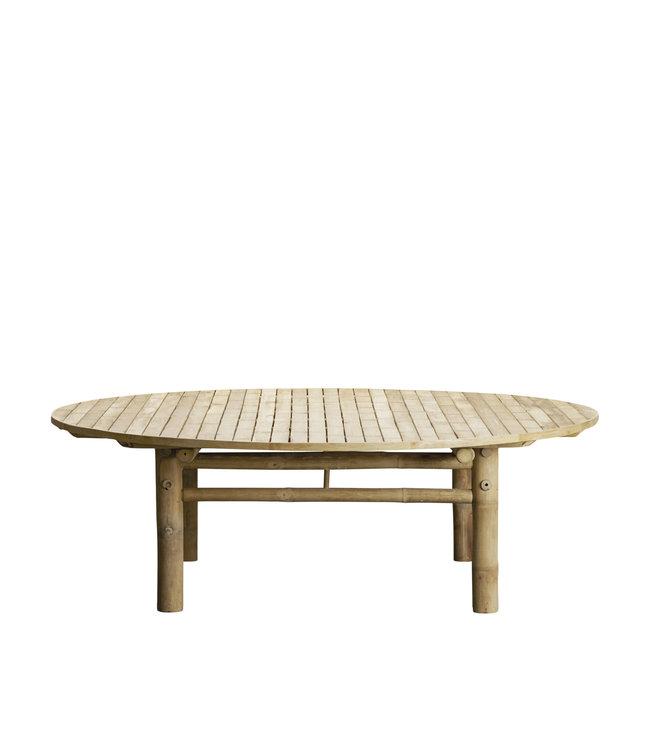 Bamboe lounge tafel rond