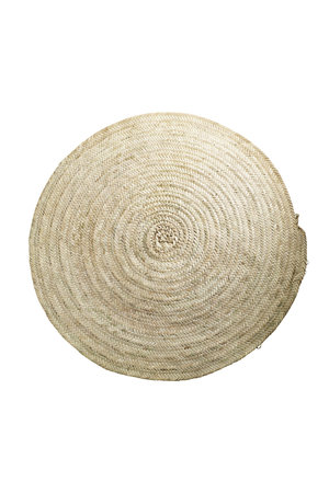 Tine K Home Round carpet in palm leafs - natural