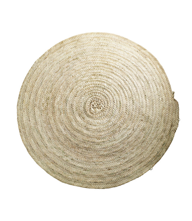 Round carpet in palm leafs - natural