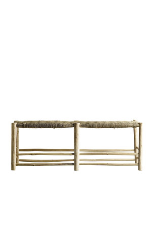 Tine K Home Bench in palm leaf/wood - natural