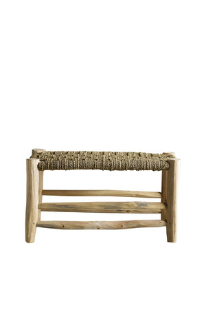 Tine K Home Stool in palmleaf/tree - double - natural