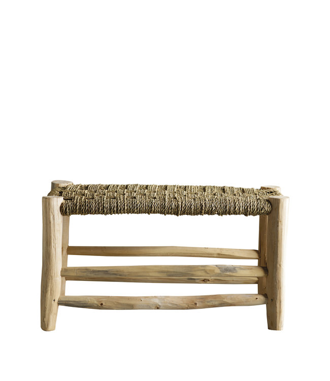 Stool in palmleaf/tree - double - natural