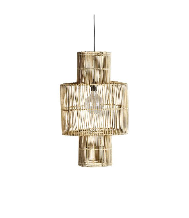 Hanging lamp shade in rattan 'hangbird'