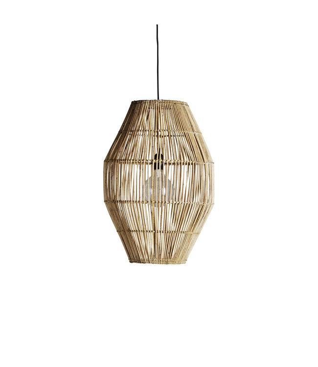 Hanging lamp shade in rattan ' hangdome'