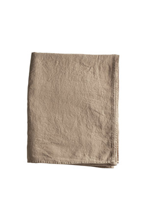 Tine K Home Versatile striped fabric in organic linen - camel