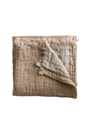 Tine K Home Linen bed throw - rose/ecru
