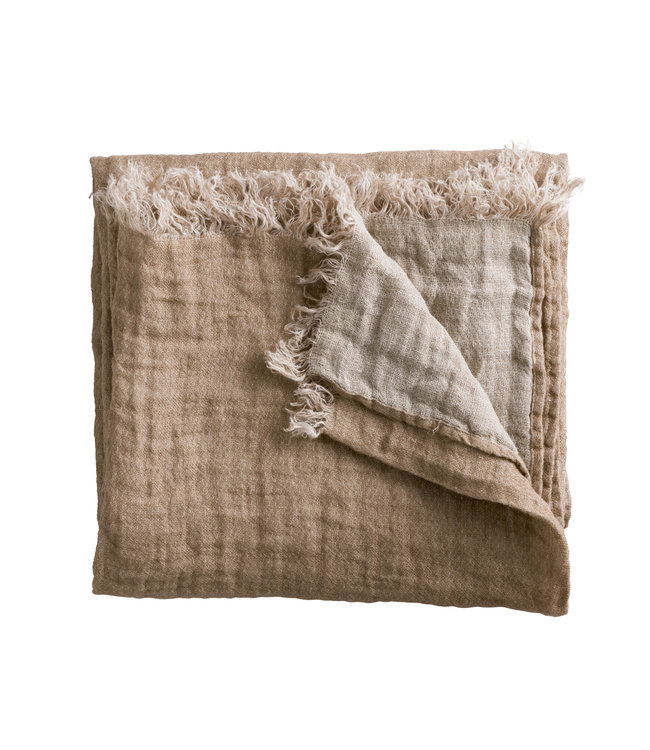 Tine K Home Linen bed throw - rose/ecru