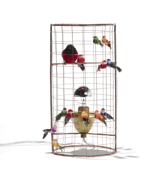 Mini birdcage lamp