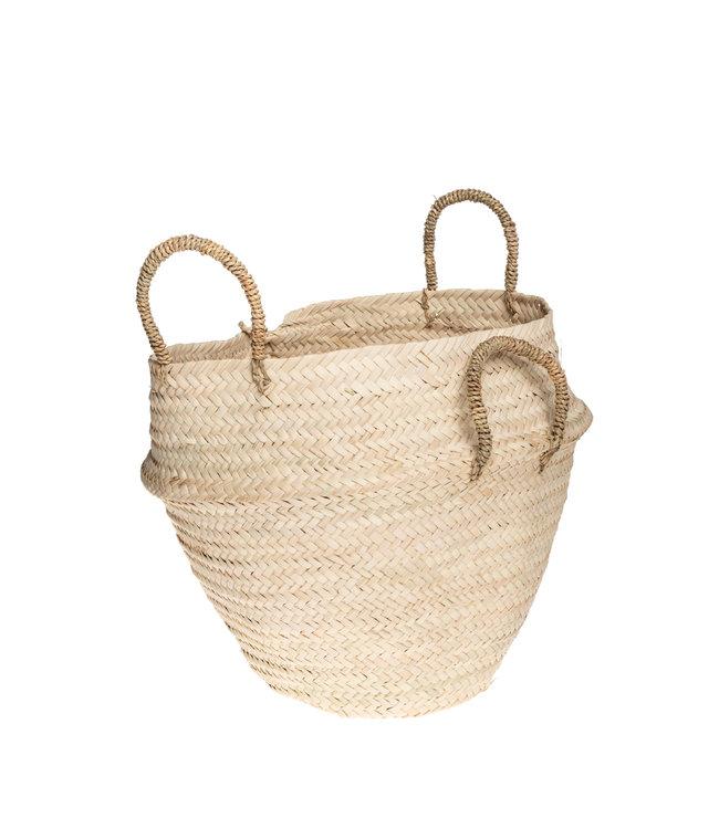 Basket palm leaves