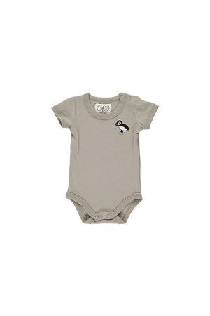 GRO Bodysuit short sleeve 'Albi' - grey