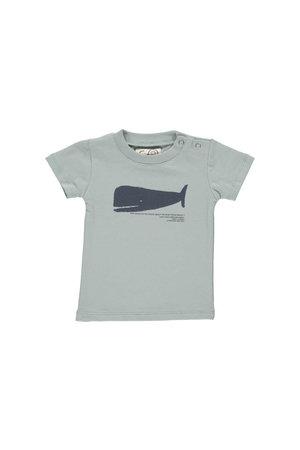GRO T-shirt 'Norr' - aqua grey