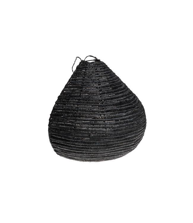 Zeegras wandlamp zwart