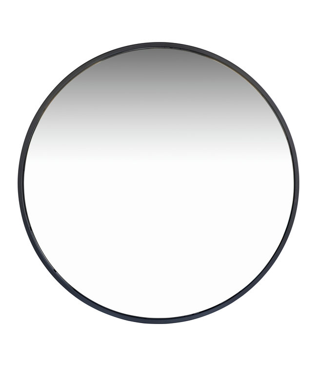 Round mirror metal frame - black